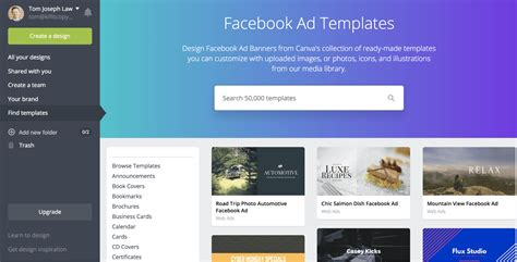 How To Create A Killer Facebook Ad Design For Your Ecommerce Store Canva Website Template