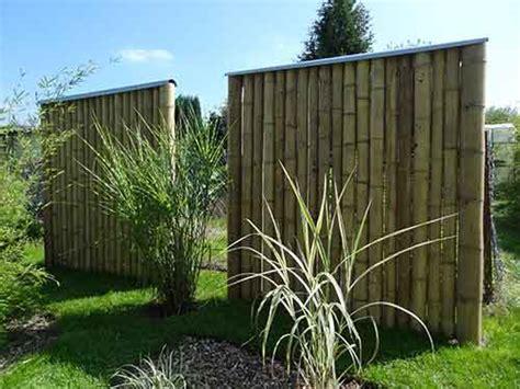 cloison jardin cloison v 233 g 233 tale en bambou utilisation verticale des cannes de bambou bamboo concept