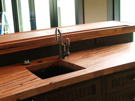 custom bar tops countertops custom solid wood edge grain mesquite counter top with