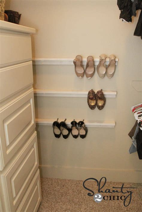 diy shoe rack for closet closet organization shoe organizers diy shanty 2 chic