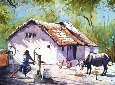 village house village house painting www imgkid com the image kid has it