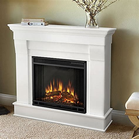 bed bath and beyond fireplace buy real 174 chateau electric fireplace in white from bed bath beyond