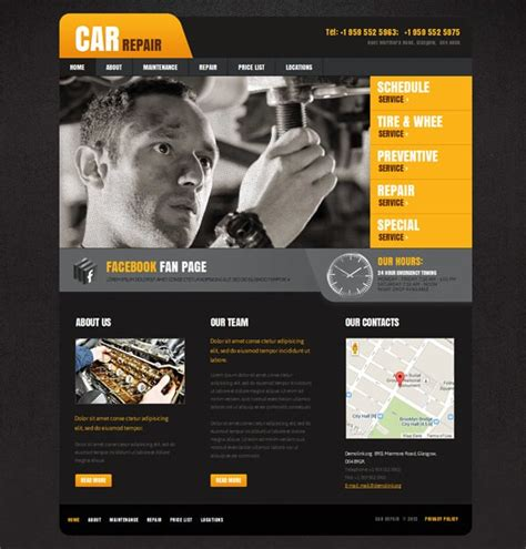 Car Website Templates Points To Look For Car Website Design Templates