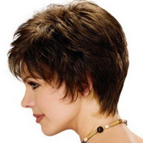 short duck tail style hairstyles with sides feathered back for older women over 60 short feathered hairstyles with bangs haircut trends