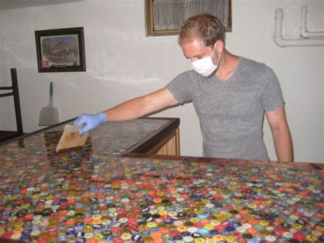 beer cap bar top bottlecap countertop yes please for my at home bar i don