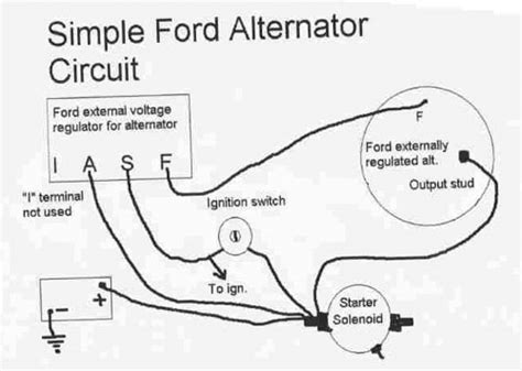 ford alternator voltage regulator wiring diagram wiring