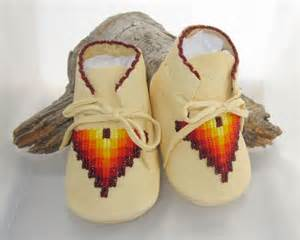 Native american beaded baby moccasins soft by authenticnativemade