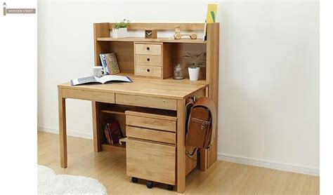 Buy Discount Kitchen Cabinets frodo study table cum shelf natural finish