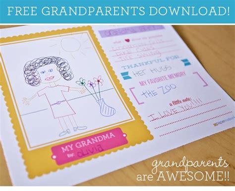 Gordmans Home Decor by Free Grandparent S Day Printable