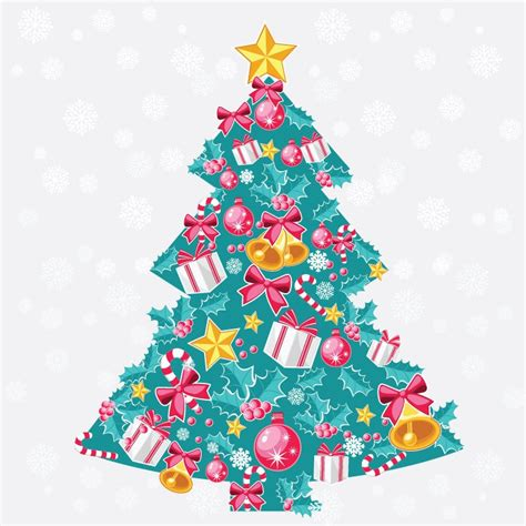 abstract christmas tree vector art free vector graphics
