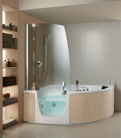 Bathroom With Tub And Shower Interior Small Corner Tub Shower Combo Oval Freestanding Bathtubs Fireplace Surround 43