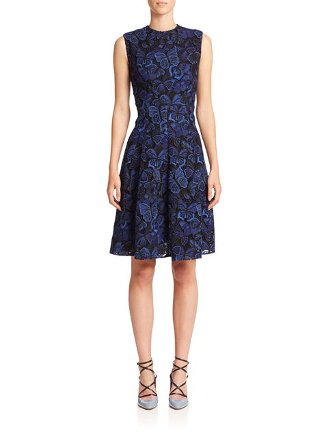 New Produk 43511 Dress Butterfly valentino butterfly guipure lace dress in blue lyst
