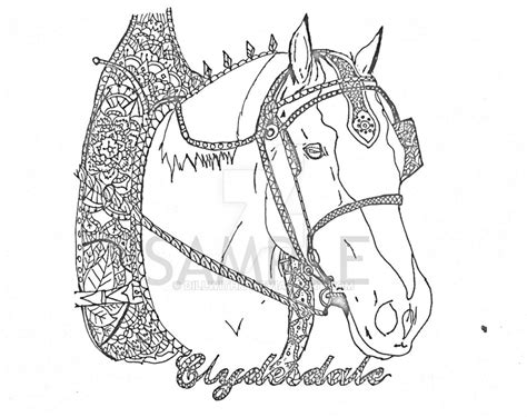 coloring pages of clydesdale horses clydesdale coloring pages
