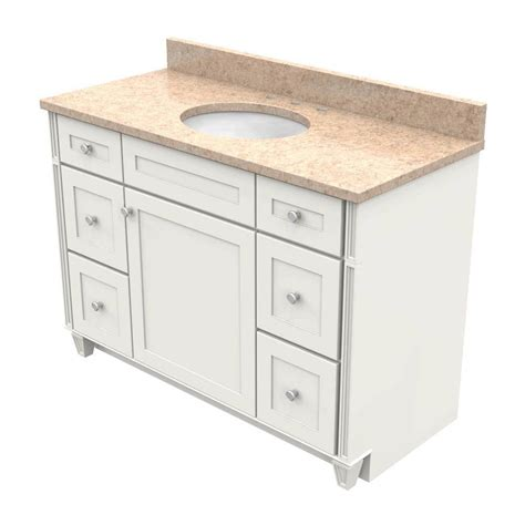 Kraftmaid Vanity Tops by Kraftmaid 48 In Vanity In Dove White With Quartz
