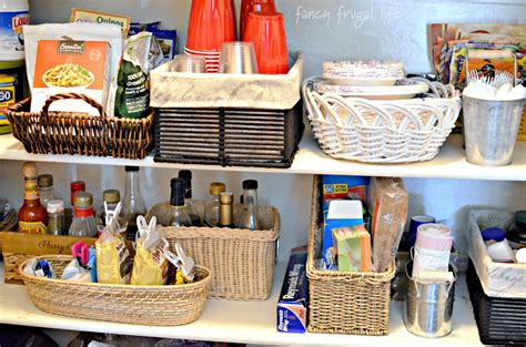Baskets For Pantry by Pantry Makeover Using Baskets Trays To Keep Organized