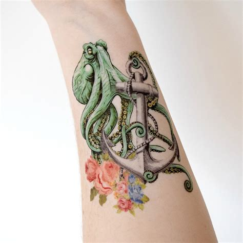 octopus anchor tattoo 20 kraken ship tattoos