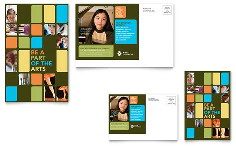 Arts Council Education Postcard Template Word Publisher Microsoft Postcard Template