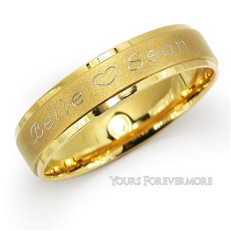 personalized promise ring name ring 14k stainless steel