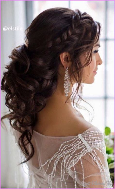 wedding hairstyles half up half and to the side bridal hairstyles half up half latestfashiontips