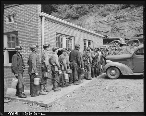 Wyoming Birth Records File Miners Waiting To Check Out After Work Koppers Coal Division Kopperston Mine