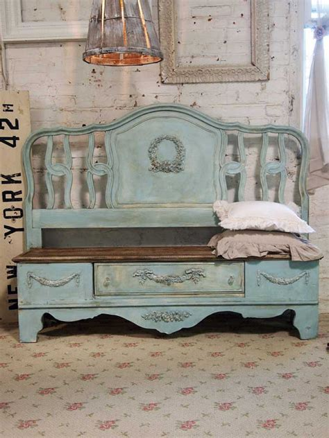 headboard into bench 20 of the best upcycled furniture ideas kitchen fun with my 3 sons