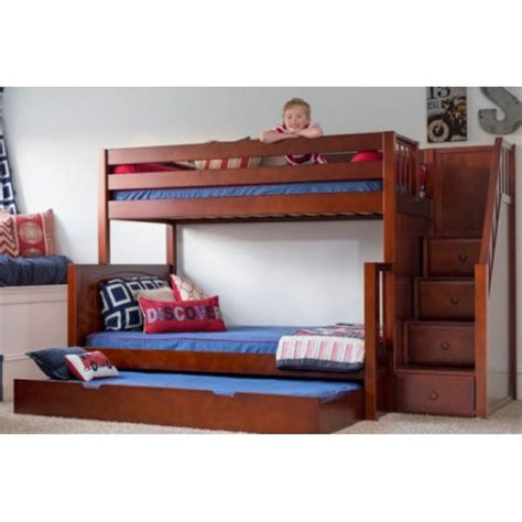 twin over double bunk bed sumo twin over full bunk bed with stairs solid
