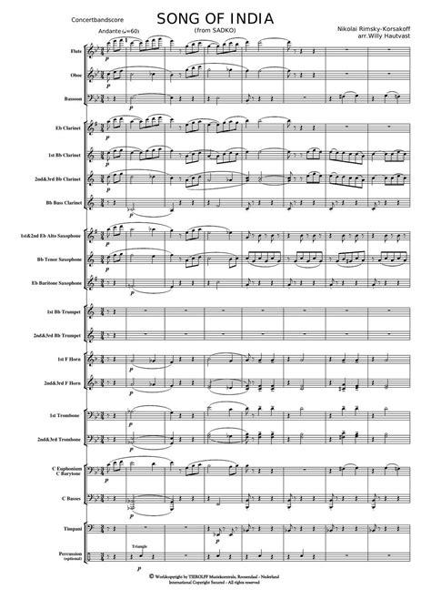 "Song of India from ""Sadko"" | Noten - Klassik | Nikolai"