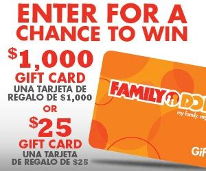 1000 Dollar Gift Card - family dollar is giving away a 1000 gift card