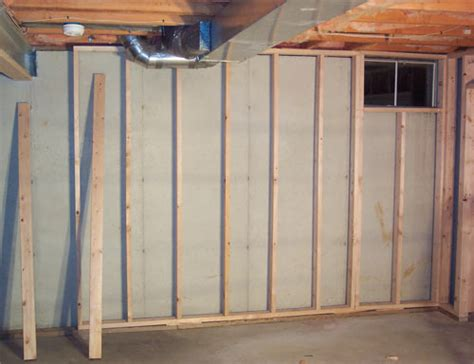 51 framing basement half concrete wall finishing basement