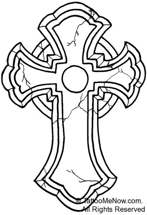 cross outline tattoo cross outline designs your free designs
