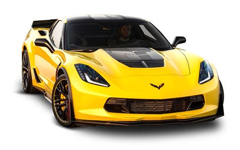 corvette c7 yellow yellow chevrolet corvette z06 c7 car png image pngpix
