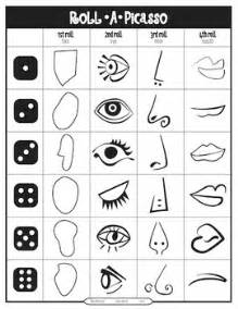 roll a picasso art game by emily glass teachers pay teachers