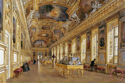 Louvre Interior by Victor Duval The Interior Of The Louvre Painting The