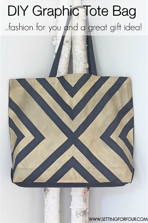 no pattern tote bag diy tote bag with black and gold graphic pattern setting