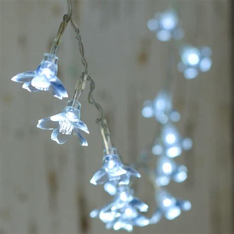 flower string light battery operated clear flower bulb string lights
