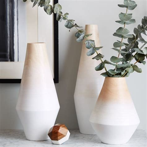 Modern Vases by Transition Your Fall Decor To Winter With Metallic Flair