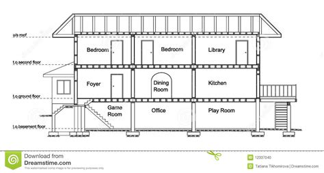 section a houses house cross section stock photo image 12337040