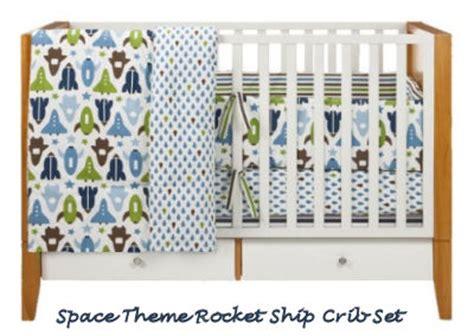 Robots And Rockets Baby Nursery Theme Rocket Crib Bedding