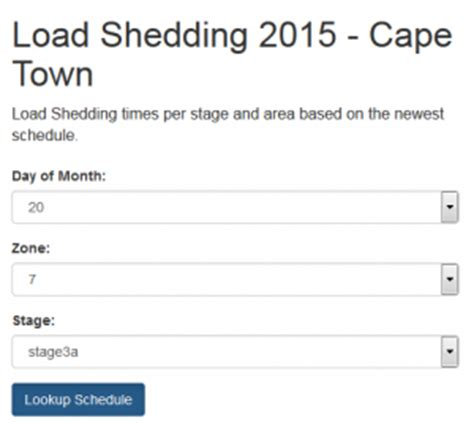 load shedding lookup tool for new loadshedding schedule