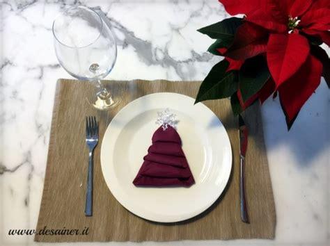 tavola natalizia idee idee tovaglioli natale