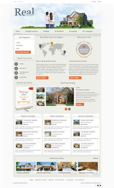 joomla classifieds template dj real estate02 responsive joomla classifieds portal template