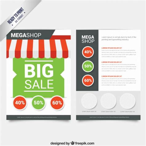 sale brochure vector free