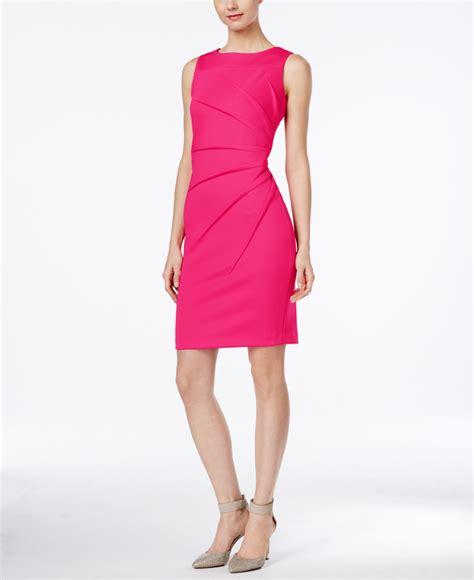 Ck Calvin Klein Sleevlees Dress calvin klein starburst sleeveless sheath dress in pink