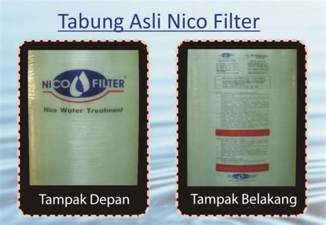 Nico Filter Media Penyaring Air Filter Kran Air Penjernih Air jual toko filter air penjernih air penyaring air saringan air tanah air sumur air sumur bor air