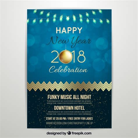 new year poster 2018 new year poster 2018 vector free