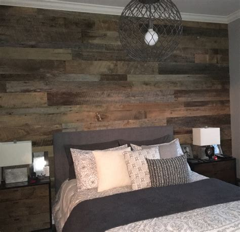 reclaimed wood bedroom kristy s master bedroom reclaimed wood accent wall fama