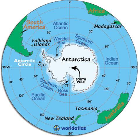 antarctica map / map of antarctica facts about