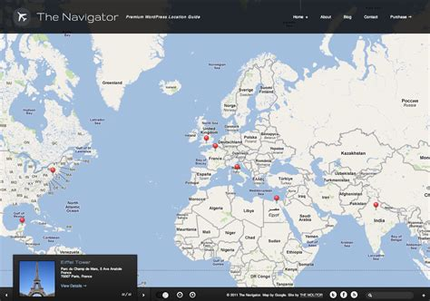 themes wordpress location the navigator location wordpress theme wphub