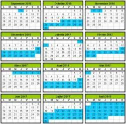 Calendrier 2016 Avec Numéro De Semaine Et Vacances Calendrier Scolaire 2017 2018 1 Free