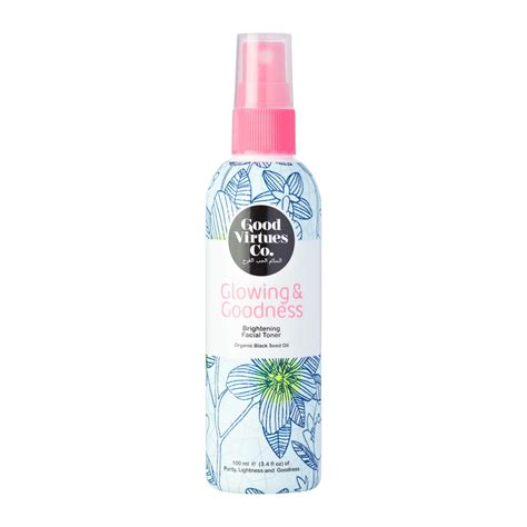 Skinova Toner Glowing Pink For Brightening virtues co glowing and goodness brightening
